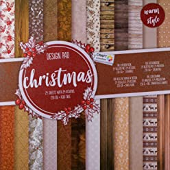 Crafts Scrapbooking Designblock 24 Bl/ätter mit 24 Motiven DIY Karten- und Bastelmaterial - Motivblock zu Weihnachten 30,5 cm x 30,5 cm s/äurefreies Papier Bastelpapier 230g