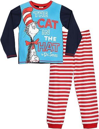 The Cat in the Hat - Pijama para Niños - El gato en el sombrero - 3 - 4 Años: Amazon.es: Ropa y accesorios