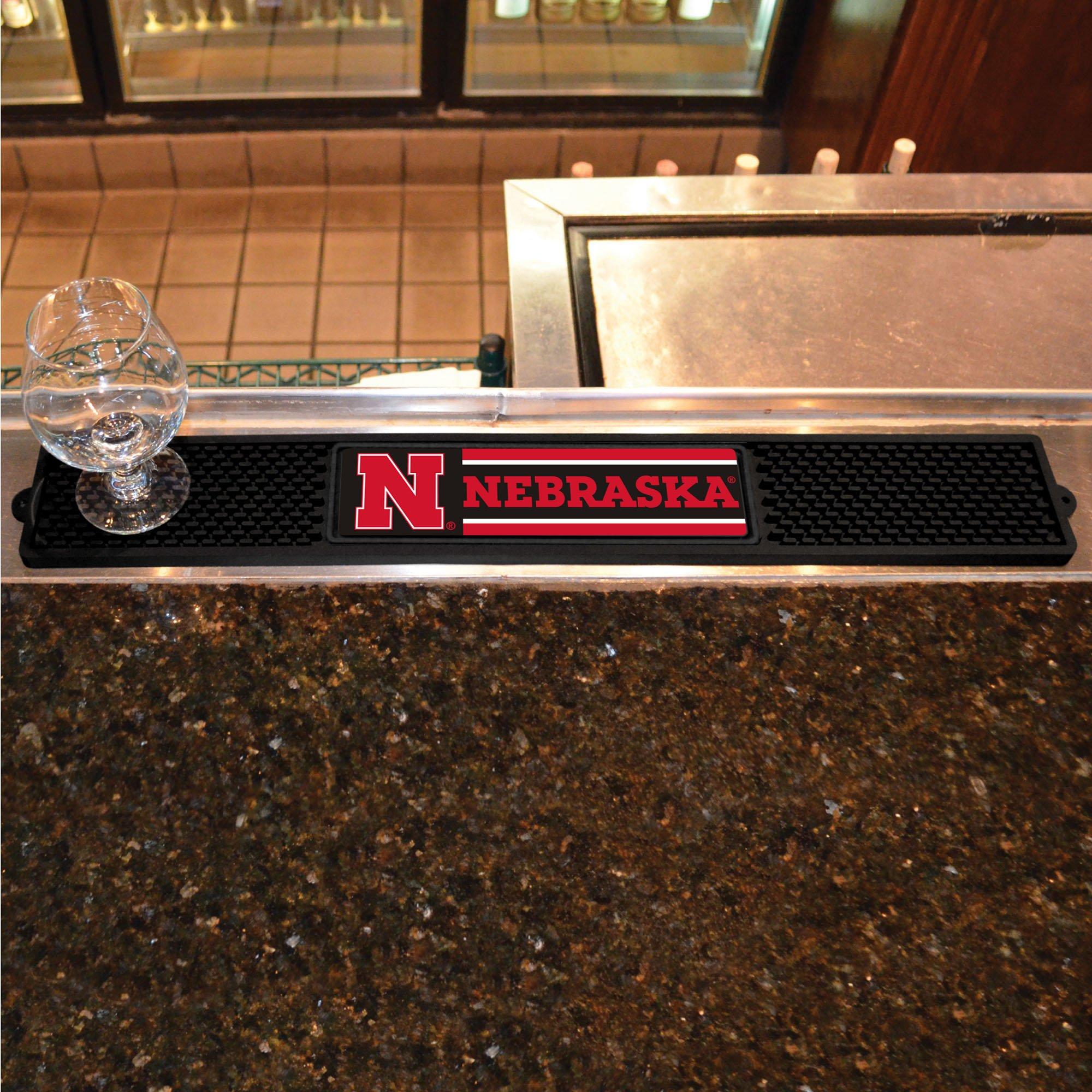 FANMATS NCAA University of Nebraska Cornhuskers Vinyl Drink Mat by FANMATS