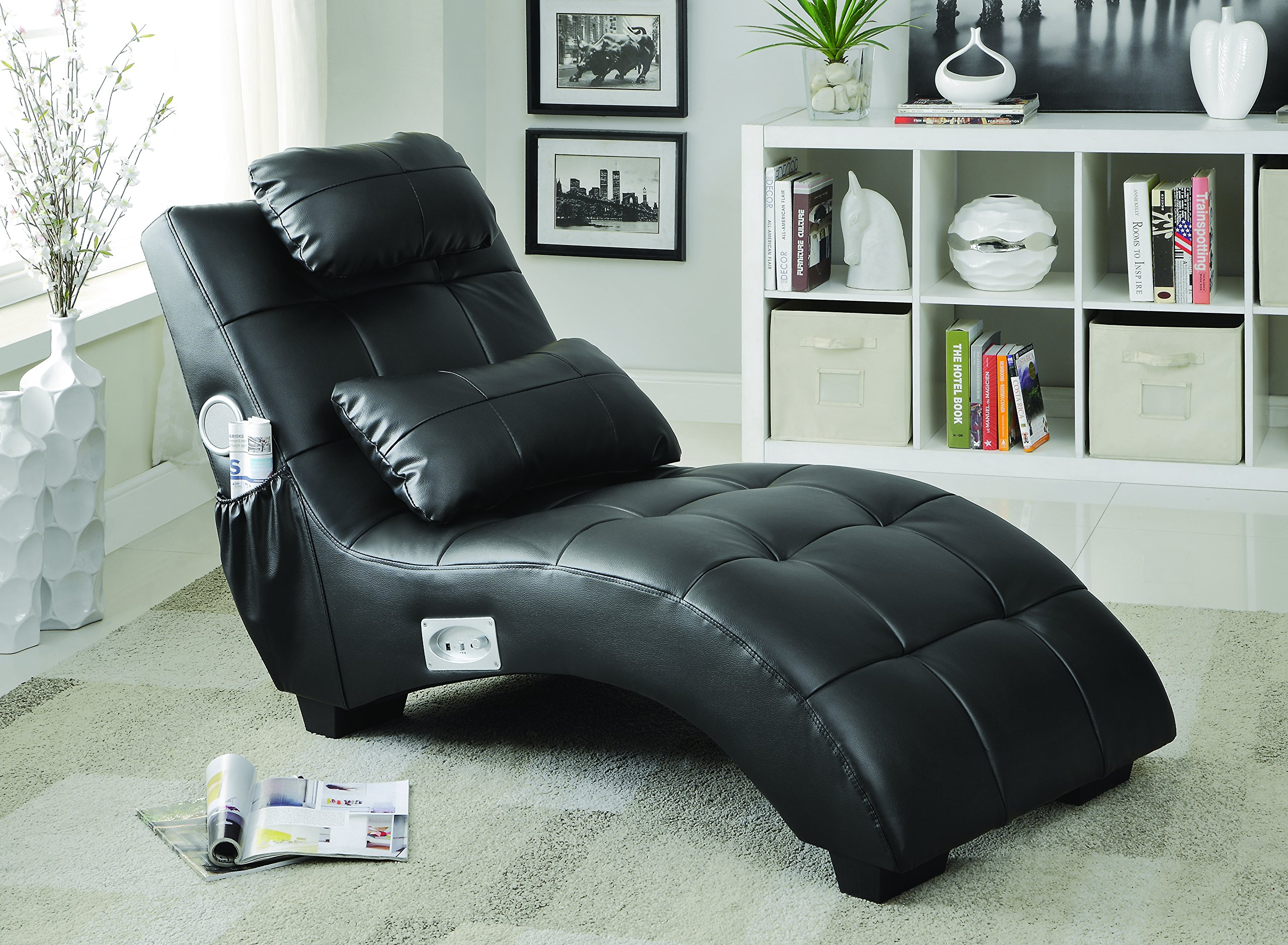 Coaster 550018 Home Furnishings Chaise, Black