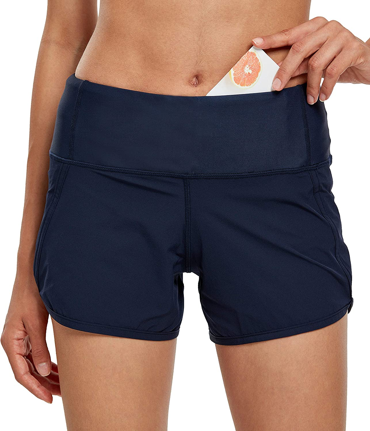 Womens Workout Shorts Athletic Sports Running Shorts for Women with Mesh Liner /& Pocket on Waistband