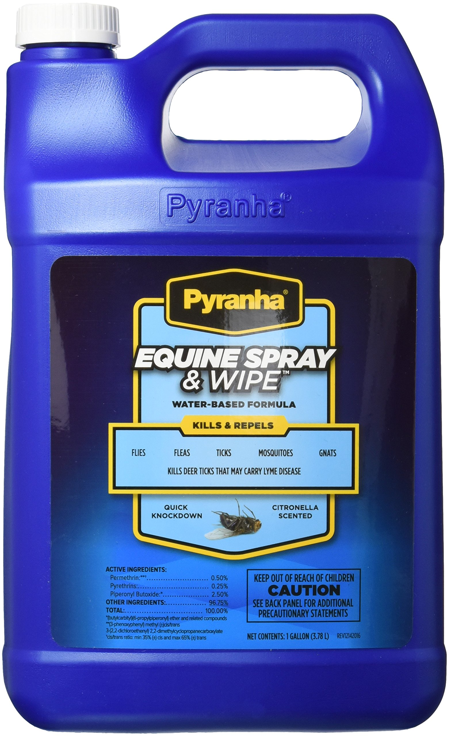Pyranha 001EQSPG 068180 Equine Spray & Wipe Insect Repellent, 1 Gallon by Pyranha