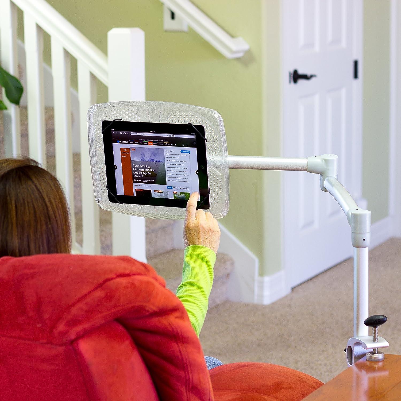 Amazon.com: LEVO Deluxe Table Clamp for all Best Tablet PCs, iPads, iPad  Mini, New iPad Pro, Galaxy, Nexus, Xoom, Surface Pro, Miix, Nook, Fire, ...