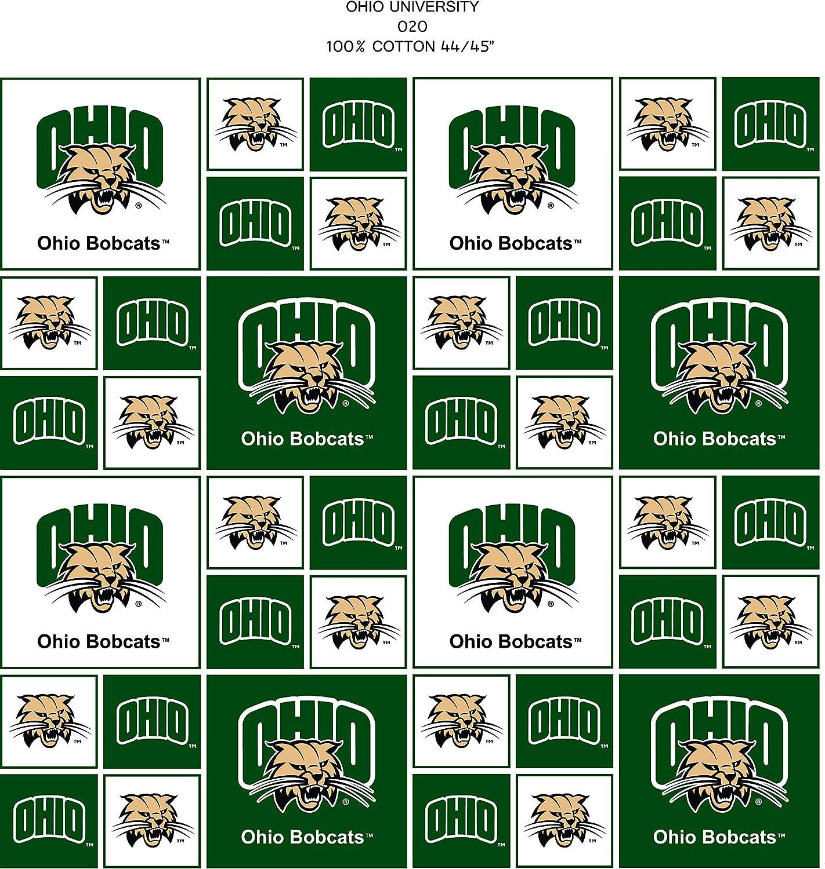 Ohio University Cotton Fabric-Ohio University Cotton Fabric Sold by The Yard