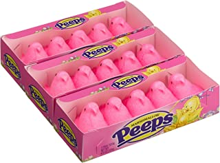 product image for Marshmallow Peeps Pink Chicks, 4.5-Ounce, 15-Count Boxes (Pack of 6)