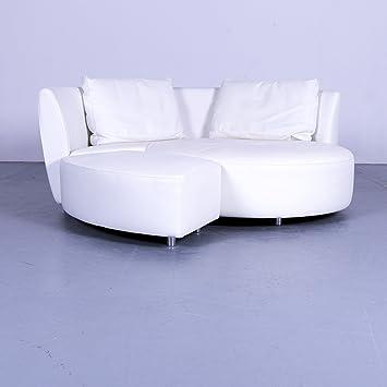 Amazonde Whos Perfect Alcova Designer Leder Sofa Weiß Dreisitzer