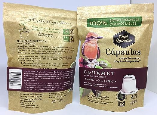Coffee Capsules Nespresso compatible, Coffee Quindio Gourmet Capsules,100% Colombian Coffee,Medium-Dark Roast Coffee: Amazon.com: Grocery & Gourmet Food