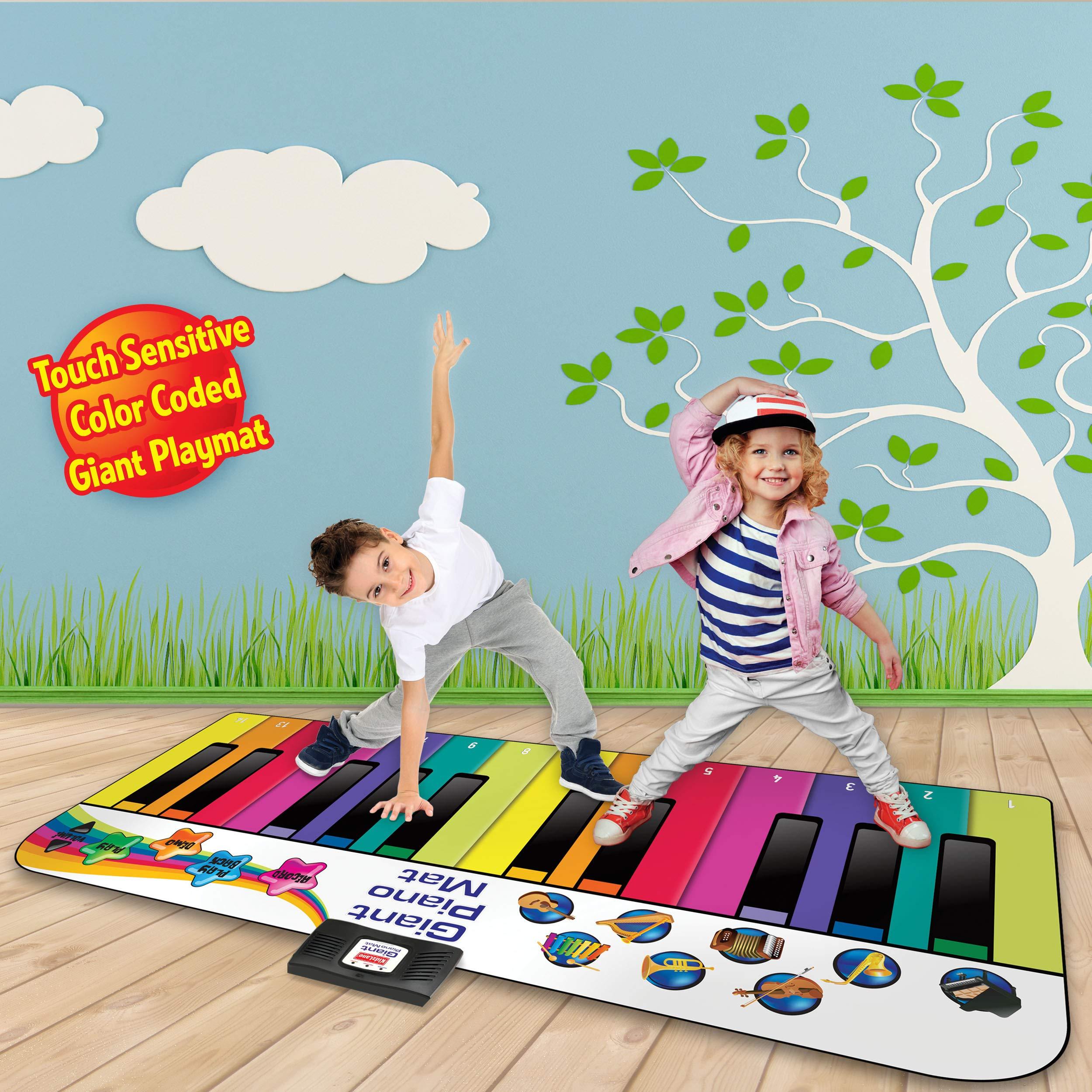 Kidzlane Floor Piano Mat: Jumbo 6 Foot Musical Keyboard Playmat for Toddlers and Kids by Kidzlane (Image #2)