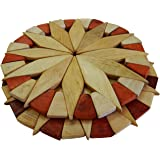 """7"""" Wood Trivets For Hot Dishes - Durable and Eco-friendly Kitchen Hot Pads, Set of 2. Handmade & Elegant Table Decor - Perfect Kitchen Gifts Idea, by Ecosall."""