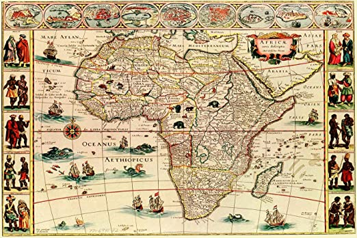 old world map of africa Amazon Com Antiguos Maps Old World Africa Nova Latin Map Circa old world map of africa