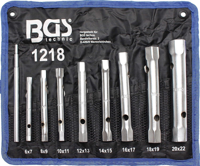 6 a 22 cm BGS technic 1218 Jeu de 8 clés en tube
