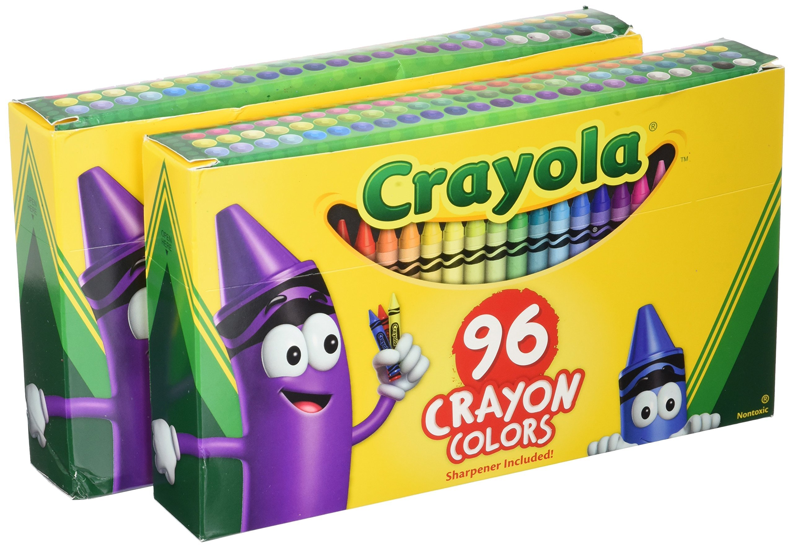 Crayola Crayons, Sharpener Included, 96 Colors (Pack of 2) by Crayola