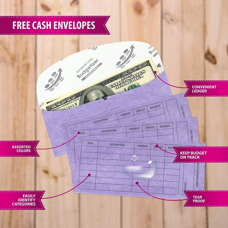 mit Geldumschl/ägen Geldbuch mit Taschen Spendenaufzeichnung Buchplaner//Notizbuch Geldplaner//Terminplaner
