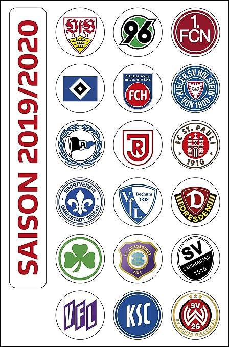 Dfl Deutsche Fussball Liga 2 Bundesliga Magnettabelle Vereinswappen Saison 2019 2020