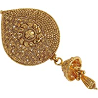 MUCH MORE Gold Plated Back Side Hair Pin For Women