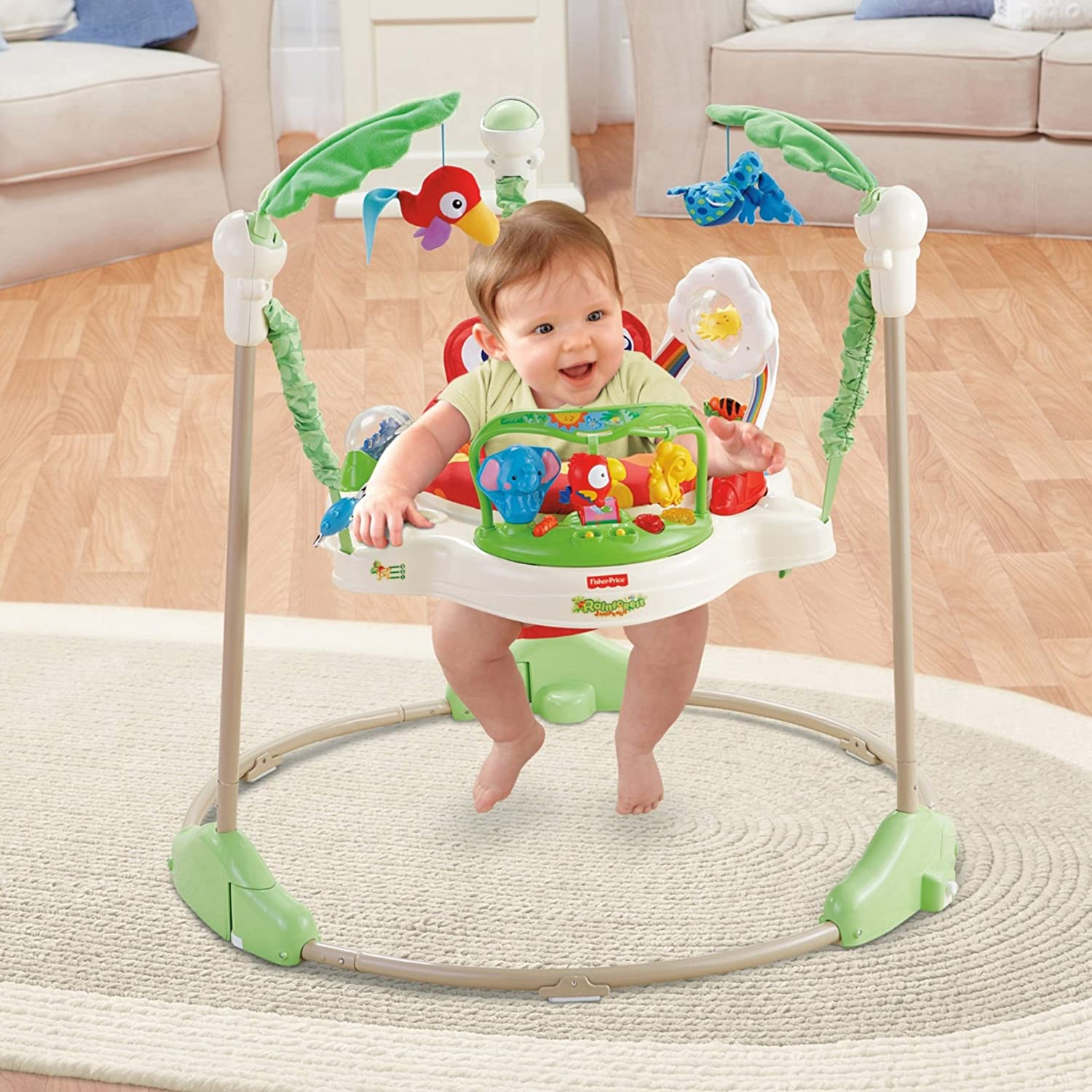 32c343a9230b Amazon.com   Fisher-Price Rainforest Jumperoo   Infant Bouncers And ...