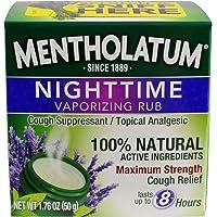 Mentholatum Nighttime Vaporizing Rub 1.76 oz.