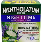 Mentholatum Nighttime Vaporizing Rub with soothing Lavender essence, 1.76 oz. - 100% Natural Active Ingredients for...
