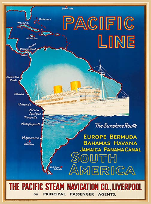 Amazon.com: A SLICE IN TIME Pacific Line South America The ...