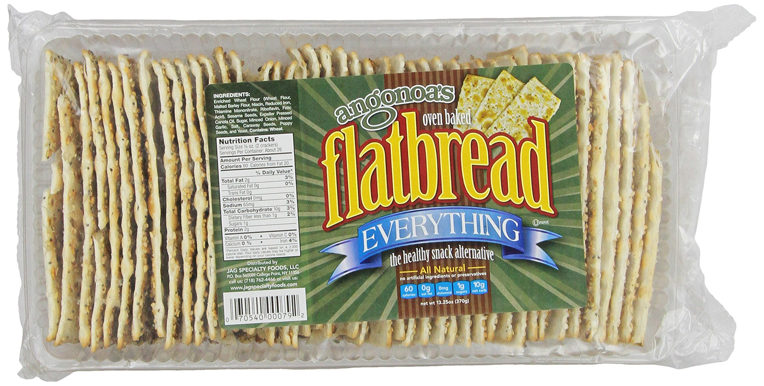 Angonoa's Flatbread, Everything, 13.25 Ounce
