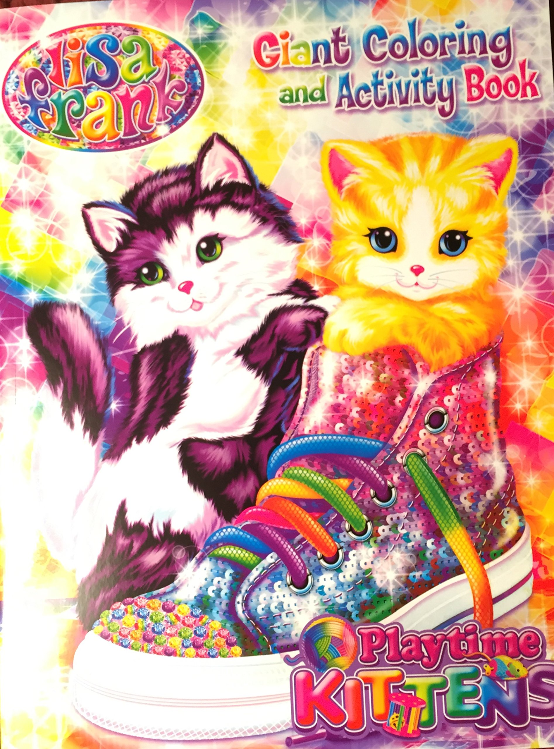 Lisa Frank Giant Coloring Activity Book Playtime Kittens Lisa