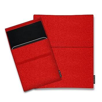 Filz Case H/ülle passgenau ma/ßgefertigt aus echtem Natur Wollfilz SIMON PIKE BERN Fujitsu STYLISTIC R726 12.5 Filztasche in Rot d/ünne Tablet Tasche Schutzh/ülle im schlanken Slim Fit Design f/ür das STYLISTIC R726 12.5
