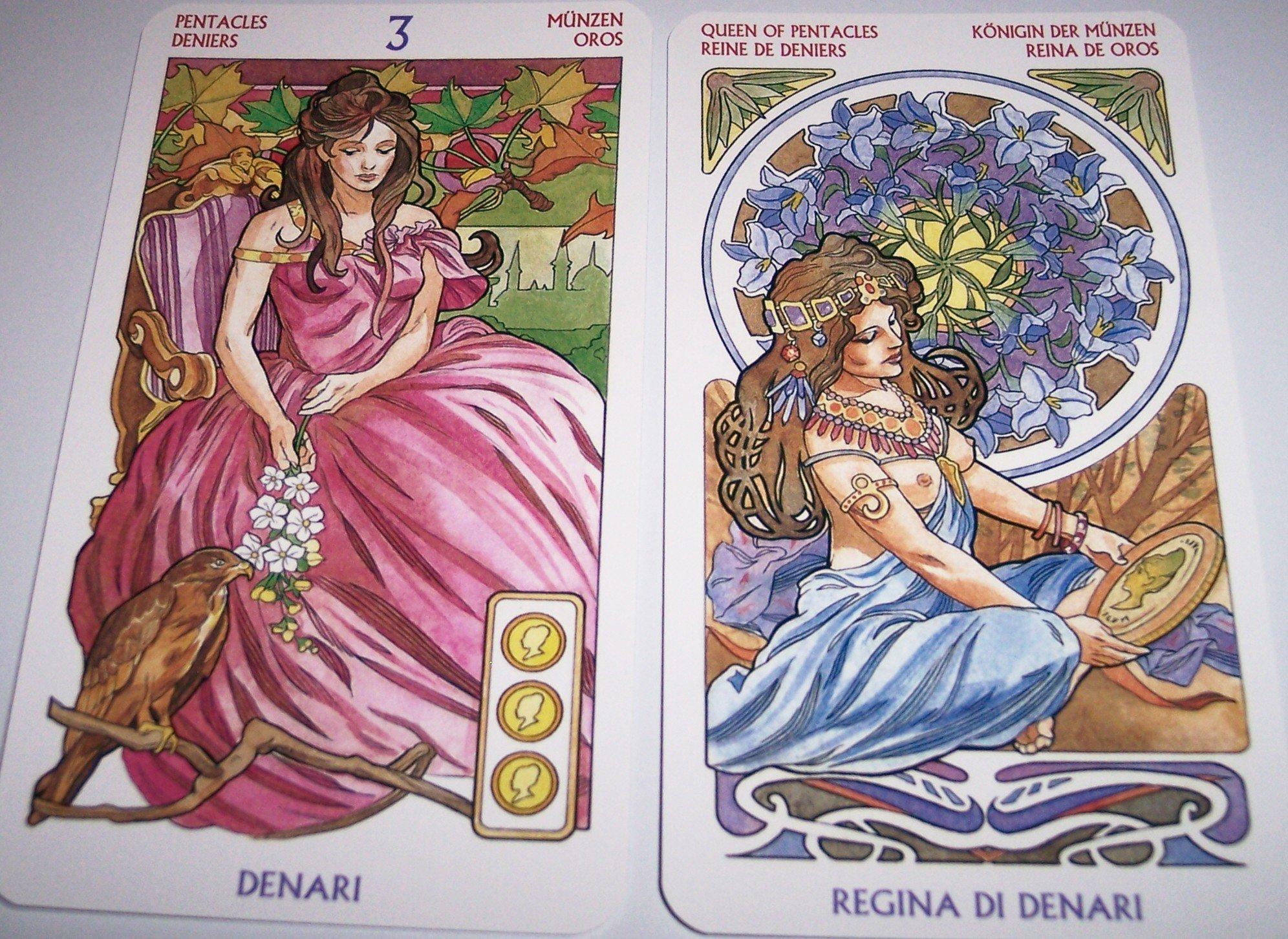 Amazonfr Tarot Art Nouveau Deck Antonella Castelli Livres