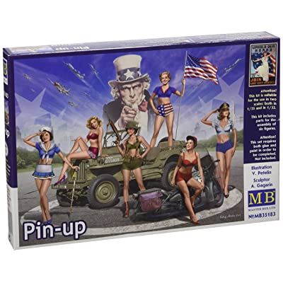 """Master Box Models 1/35 """"Pin-up Women Posing in Legendary Pin-up Style - 6 Figure Set: Toys & Games"""
