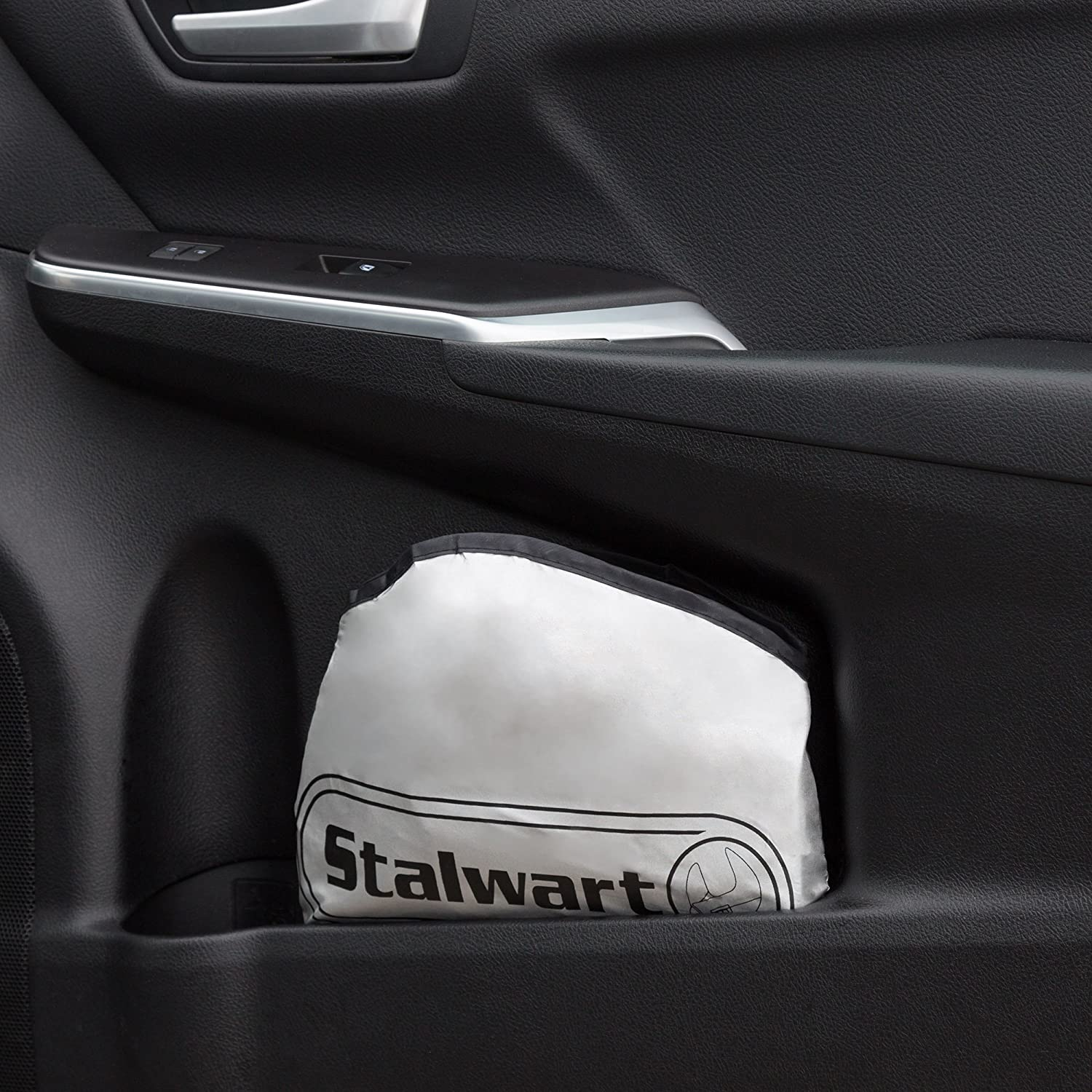 Windshield Sun Shade with Storage Bag Foldable Sunshade to Protect Cars Trucks and SUVs from UV Rays and Block Heat by Stalwart