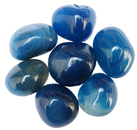 Jaanvi Granites Onyx Pebbles(Blue, 2kg) Vase Fillers at amazon