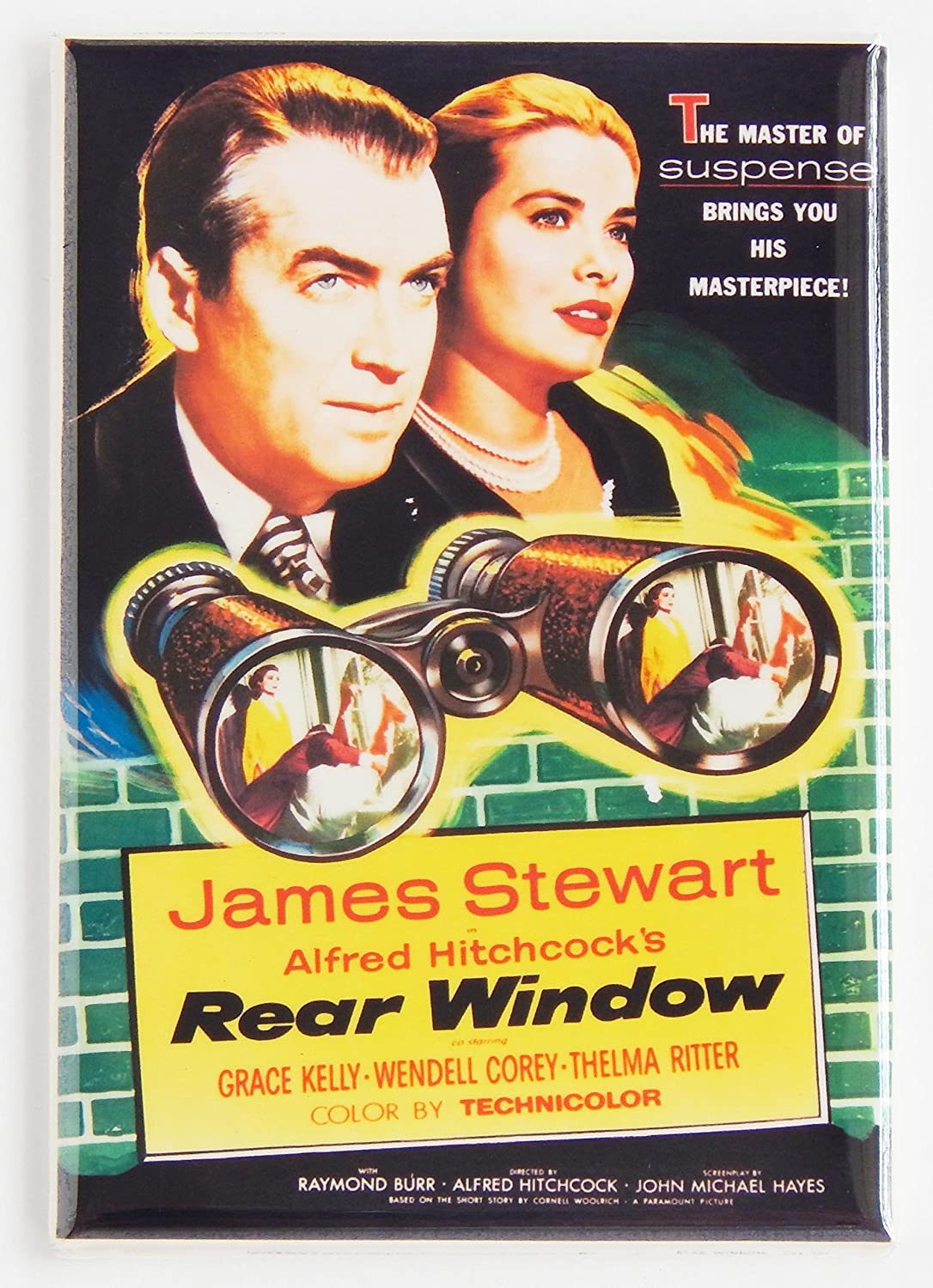 Rear Window Movie Poster Fridge Magnet (2 x 3 inches)