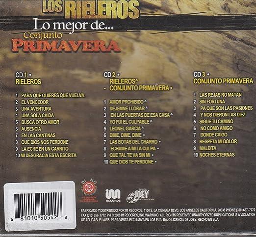 : Los Rieleros y De Conjunto Primavera - Lo Mejor De: Los Rieleros y Conjunto Primavera - Amazon.com Music