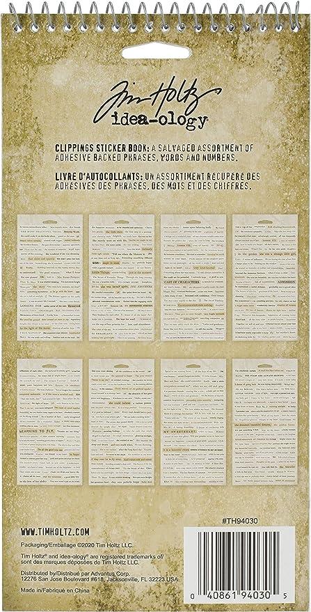 Tim Holtz Adesivi per libri taglia unica Advantus idea regalo