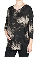 Beachcoco Women's Maternity Soft Tie Dye 3/4 Length Sleeve Print Top