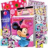 Disney Minnie Mouse Coloring Book and Stickers Gift Set - Bundle Includes Gigantic 192 pg Minnie Mouse Coloring Book, Minnie Mouse Stickers, and 2-Sided Door Hanger, in Specialty Gift Bag