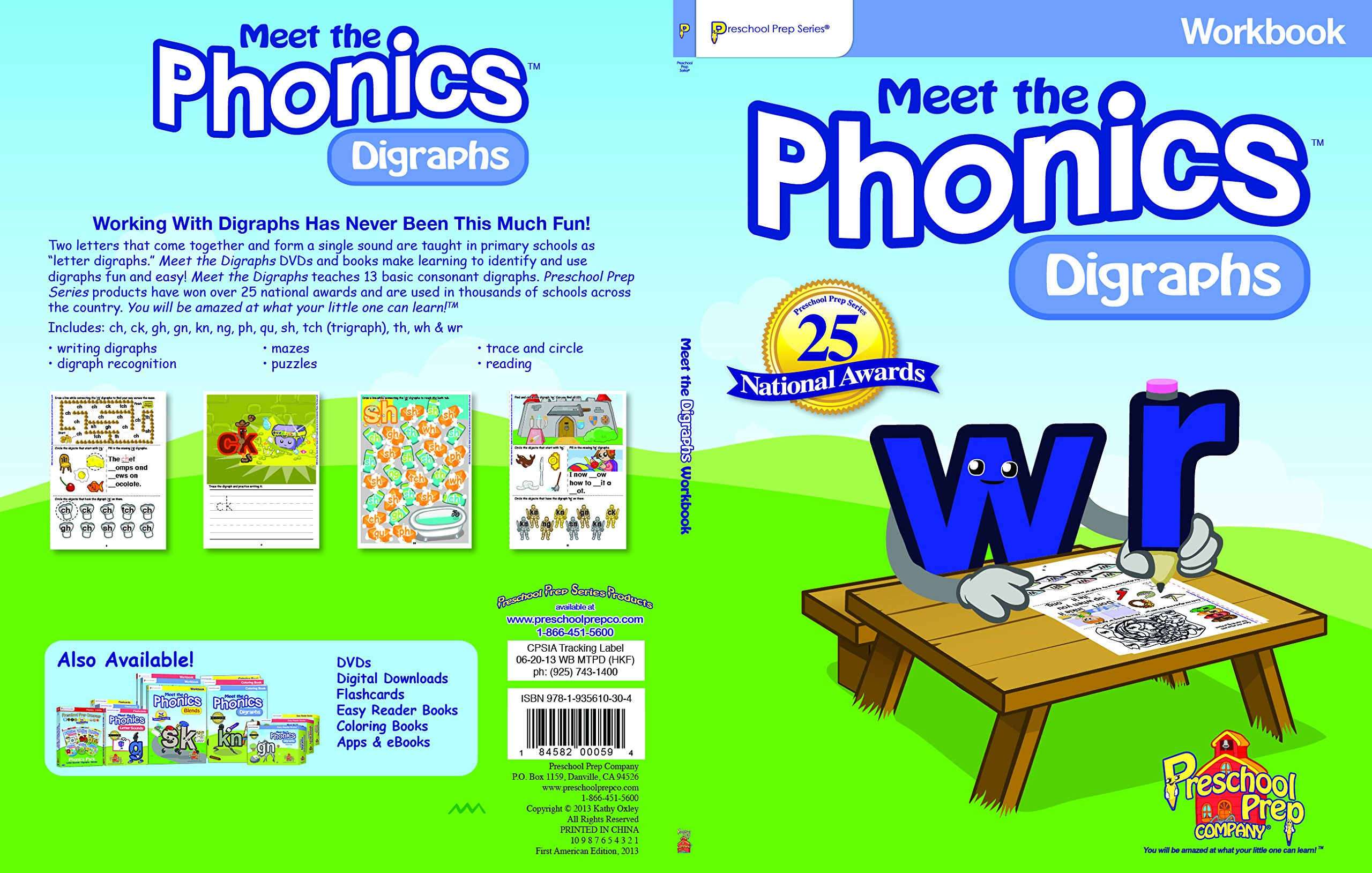 Meet the Phonics - Digraphs Workbook: Kathy Oxley: 0184582000594 ...