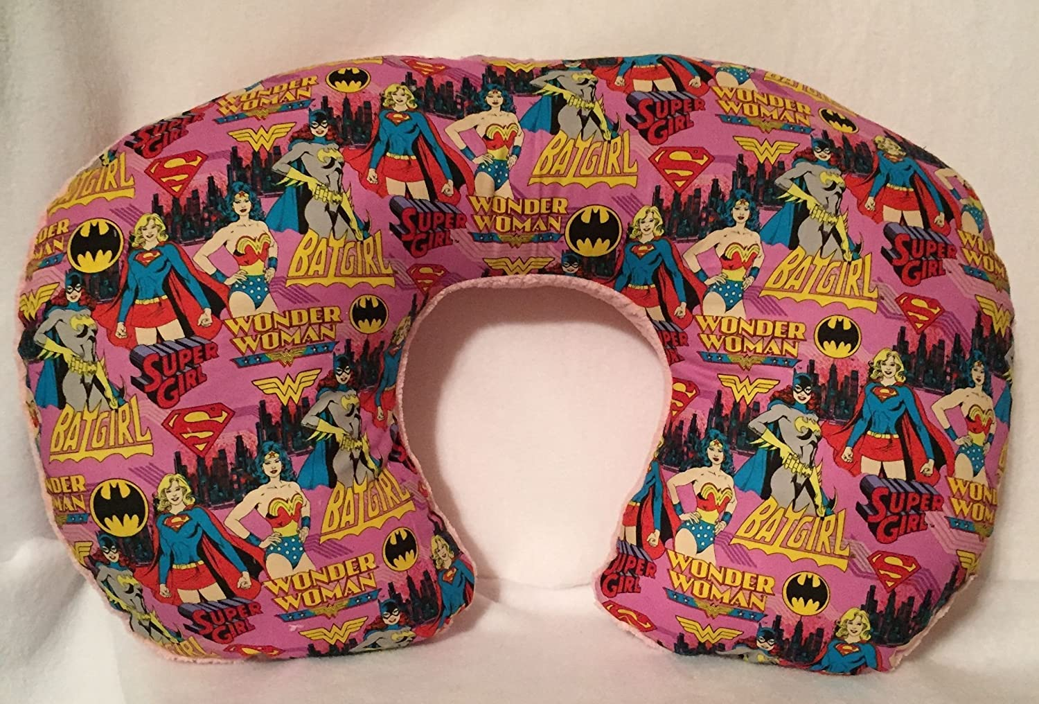 Superhero girls Nursing - Bottling Feeding Pillow / Unique Babyshower gifts