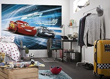 Komar - Disney - Fototapete CARS 3 STIMULATION - 254x184cm - Tapete, Wand  Dekoration, Rennwagen, Auto, Kinderzimmer, Jungen, Sportwagen -4-423