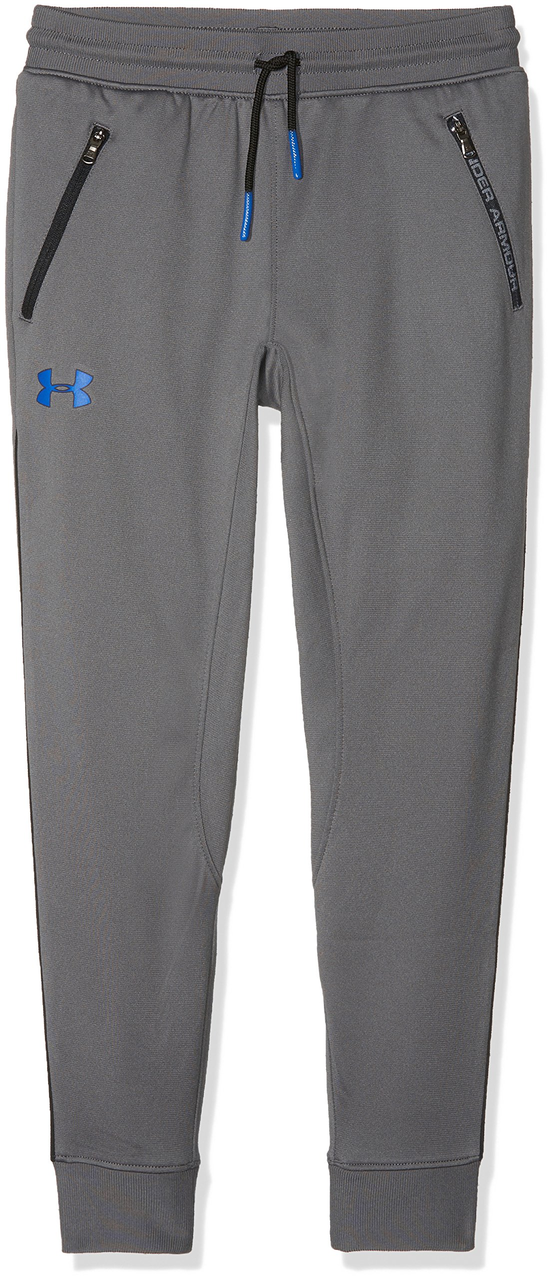 Under Armour Boys' Pennant Tapered Pants,Graphite /Ultra Blue, Youth Medium