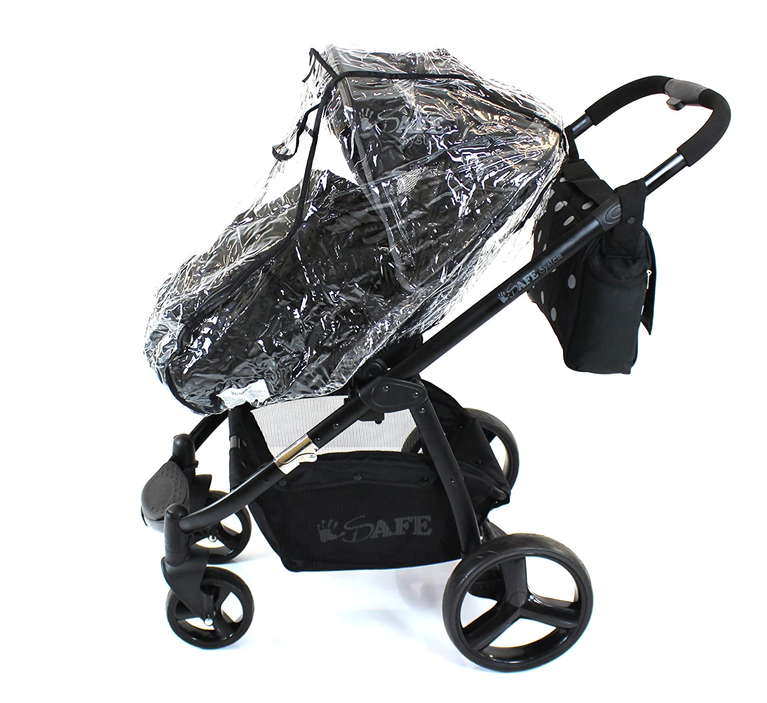 Baby Travel 2 in 1 Raincover to Fit Bugaboo Cameleon Stroller And Carrycot Mode for Newborn (Transparent) Baby Travel® Dreami Type RC