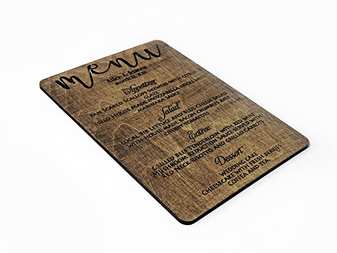 Amazon.com: Personalized Menu Dinner Menu Card Printed Wedding Menu ...