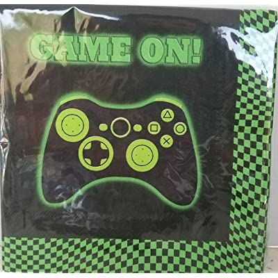 Game ON Video game Controllers Game Truck Party Lunch NAPKINS Epic Decoration Birthday 10 Pieces: Kitchen & Dining