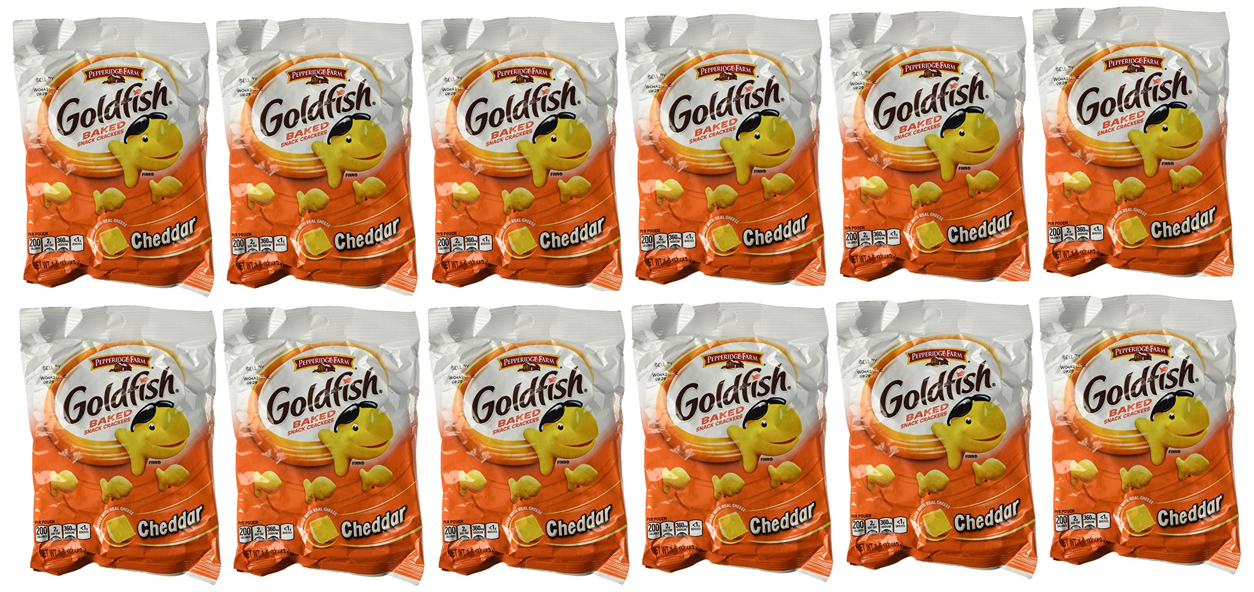 Pepperidge Farm Goldfish, Cheddar, 1.5 Ounce Bags (Pack of 12) by Iceman's Thunder
