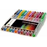 Color Technik Glitter Gel Pens, Amazing Sparkling Colors with Comfort Grip, Set of 12