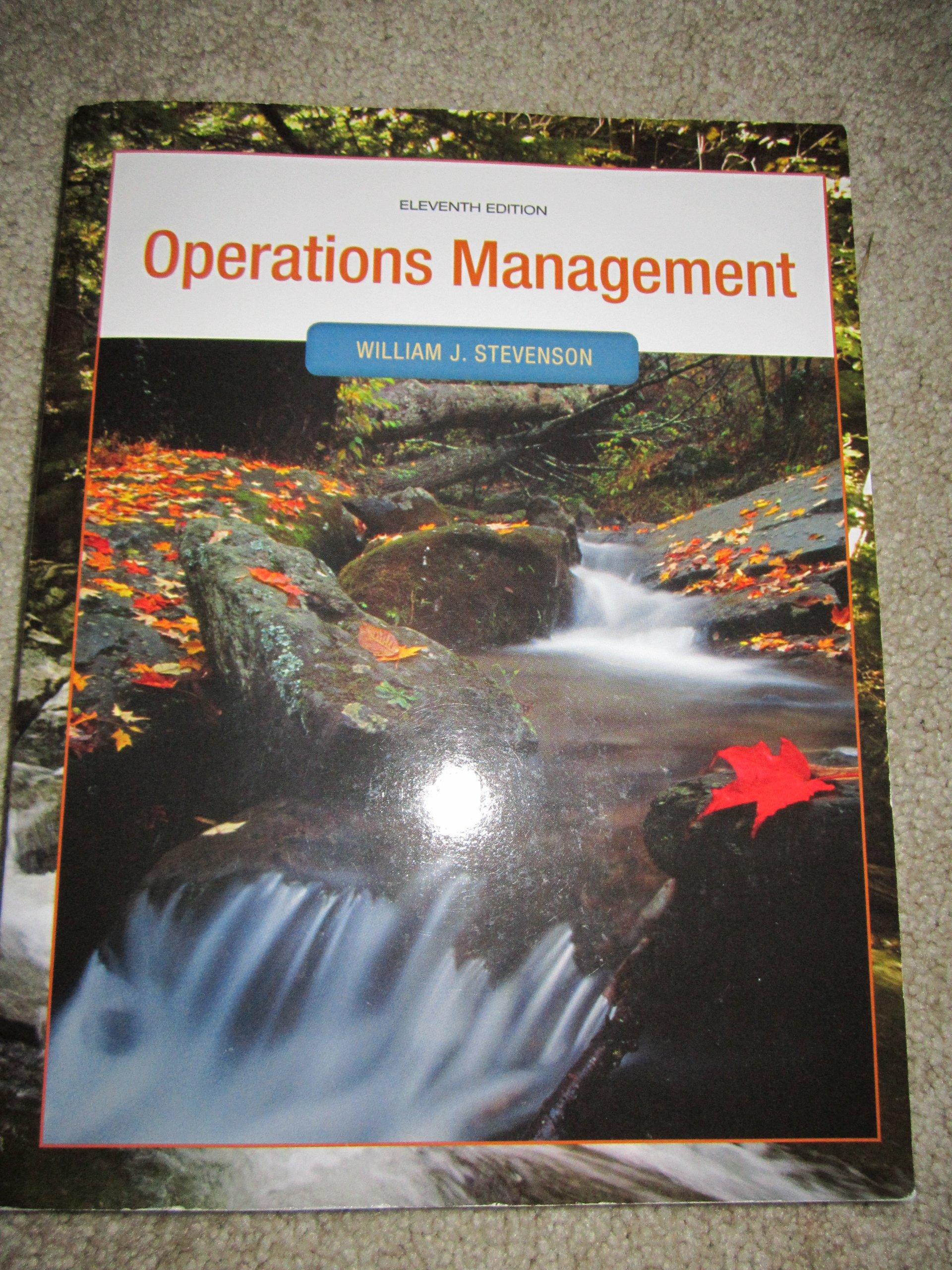 Operations Management: William J. Stevenson: 9780077549510: Amazon.com:  Books
