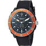 Alpina Men's AL-282LBO4V6 Horological Smart Watch Analog Display Quartz Black Watch