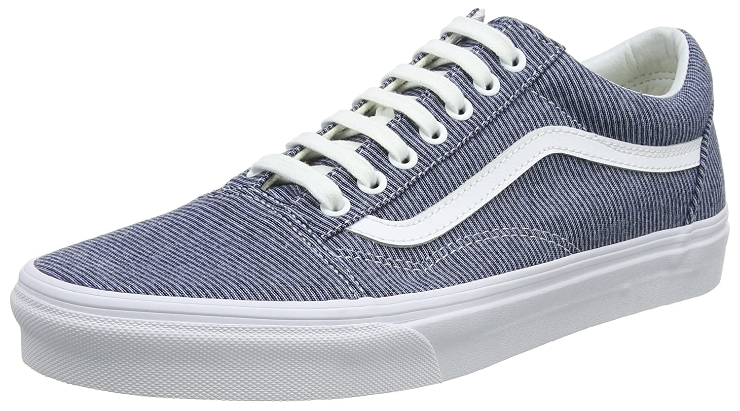 Vans Unisex Old Skool Classic Skate Shoes B076CRS11L 5.5 D(M) US / 7 B(M) US|Blue/True White