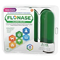 Flonase Allergy Relief Nasal Spray, 24 Hour Non Drowsy Allergy Medicine, Cn680, 0.62 Fl Oz (Pack of 2)