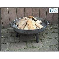 Feuerstelle Stahl XL silber Fire Pit ✔ rund