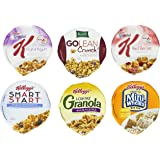 Kellogg's Cereal Cup Assortment Pack – Wellness (6 Flavors),Pack of 60